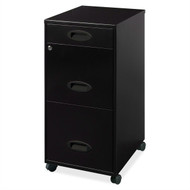 Black 3-Drawer Vertical File Cabinet with Mobile Rolling Casters DTFC5984511