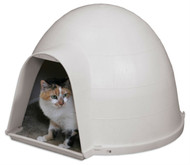 Outdoor Kitty Cat Igloo with Carpeted Floor PKKCPET14
