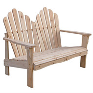 Cedar Wood Outdoor Patio 2-Seat Adirondack Chair Style Loveseat SWL15970