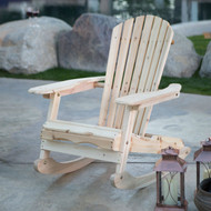 Patio Porch All Weather Indoor / Outdoor Natural Adirondack Rocking Chair AIDNAT1488