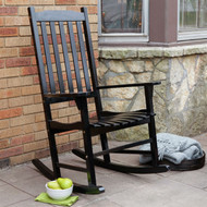 Indoor/Outdoor Patio Porch Black Slat Rocking Chair MCSBL1488