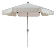 Antique Beige 7.5 Foot Off-White Patio Umbrella with Push Button Tilt and Metal Pole ABPBTCU963284