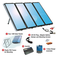 60-Watt Solar Panel Charging Kit with Charge Controller & Inverter 60WSCKSF27995