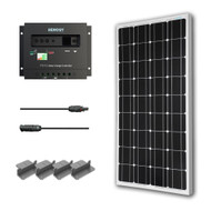 100-Watt Solar Panel with Charge Controller and Z Mounting Brackets TMS5481543