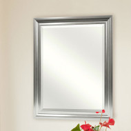 Rectangular Beveled Vanity Mirror with Satin Silver Finish Frame BM5189511564