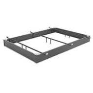Queen size Hotel Style Steel 7.5-inch High Hospitality Metal Bed Base LP571085