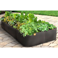 Modern 3-Ft x 6-Ft Raised Garden Bed Planter in UV Resistant Non-Woven Air Flow Plastic CRGBP9584711