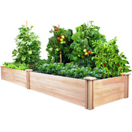 Cedar Wood 2-Ft x 8-Ft Outdoor Raised Garden Bed Planter Frame - Made in USA TBEFTP981362