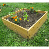 Cedar Wood 3-Ft x 3-Ft x 11-inch Raised Garden Bed Kit - Made in USA TFBTF9841262