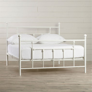 Queen size White Metal Platform Bed Frame with Headboard and Footboard QMPBC519582441