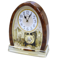 Crystal Bells Swinging Pendulum Table Clock CBTC519874152