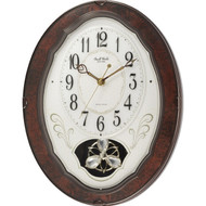 Wood Frame Pendulum Wall Clock - Plays Melodies on the Hour CWCR16847514