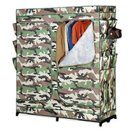 60-inch Camo Portable Closet Clothes Organizer Wardrobe ZPQMW92016