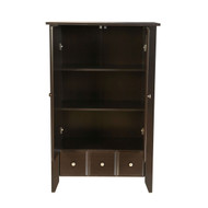 Bedroom Wardrobe Armoire Cabinet in Dark Brown Mocha Wood Finish RACJW1598451