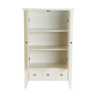 Classic Bedroom Armoire Wardrobe Cabinet in Soft White Wood Finish RAMCWE51987551