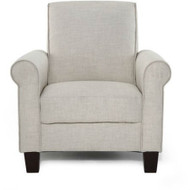 Taupe Tan Linen Upholstered American Style Living Room Arm Chair RACL19548712