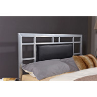 Full size Silver Metal Platform Bed Frame with Upholstered Headboard UPBHCDE984512561