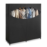 Metal Frame Black Fabric Wardrobe Clothes Closet Garment Rack WBZCO9854171