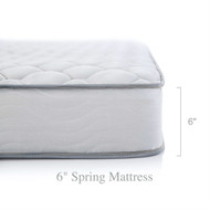 California King 6-inch Thick Innerspring Mattress with Quilted Cover - Medium Firm CAKMLM87162251