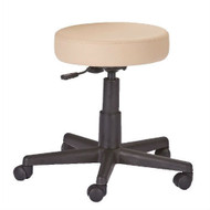 Adjustable Height Pneumatic Rolling Stool with Beige Padded Seat by Earthlite Massage BELMTS19841512