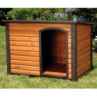 Log Cabin Style Outdoor Dog House Shelter 44.4L x 26.2W x 29.5H inch PLCDH9852481