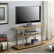 Modern Wood Metal TV Stand Entertainment Center in Light Oak Finish DTGWTVS987281