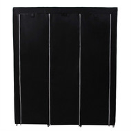 Steel Frame Black Fabric Portable Wardrobe Clothes Closet with Storage Shelves SPCRZB198751