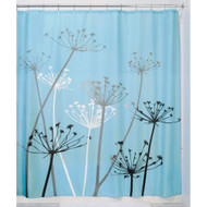 Black and Blue Thistle Flower Fabric Shower Curtain MTBASC594216875