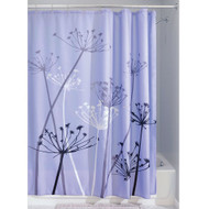 Purple Thistle Flower Polyester Fabric Shower Curtain MTFSC684812