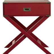 Modern 1-Drawer French Dovetail End Table Nightstand in Red Wood RNDET6848124