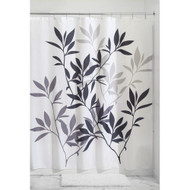 Tree Branch Leaves Black White Grey Fabric Shower Curtain TBLSC7351984