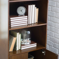 Modern Classic Mid-Century Style Bookcase Cabinet in Walnut Wood Finish MCB149845547
