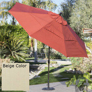 Outdoor Patio 11-Ft Market Umbrella with Push Button Tilt with Beige Shade ANTBESUM19875121