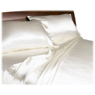 CA King size Lustrous Satin Sheet Set in Ivory Color DSICK18941