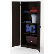 Black Wood Wardrobe Armoire Storage Cabinet ASCB1987812