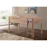 Twin size Kids Teens Bunk Loft Bed in Natural Wood Finish CWJLBN19854841