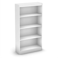 White 4-Shelf Bookcase with 2 Adjustable Shelves SWBKC85987581