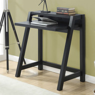 Black Modern Laptop Computer Desk with Top Shelf BMOCPDS75198548