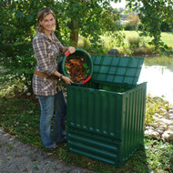Outdoor Composting 110-Gallon Composter Recycle Plastic Compost Bin - Green EKRPCB9317581