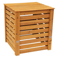 Solid Wood 90-Gallon Compost Bin with Removable Top and Hinged Side Panel LSCB198769154