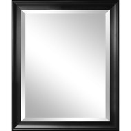 Beveled Glass Bathroom Wall Mirror with Black Frame - 34 x 28 inch BWMVH548931
