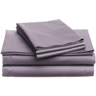 Full size 400-Thread Count Egyptian Cotton Sheet Set in Plum Purple P4CESP4991