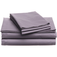 CA King 400 Thread Count Cotton Sheet Set in Plum Purple PHECSP48482