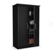 Black Storage Cabinet with 2-Doors Great for Bedroom Wardrobe Armoire and Office PBCRS49815