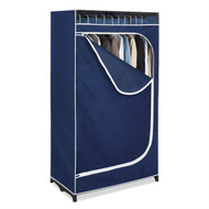 Portable Clothes Closet Wardrobe in Blue Breathable Fabric WCBF3618