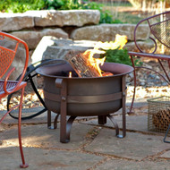 23-inch Heavy Duty Steel Fire Pit Cauldron with Stand and Cover BSHDFP4581487