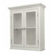 Classic 2-Door Bathroom Wall Cabinet in White Finish CWWC2D6205