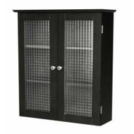 Bathroom Wall Cabinet with Two Glass Doors in Dark Espresso WCWTGD6799