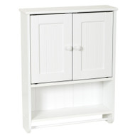 Wall Mount Bathroom Cabinet with Towel Bar in White Finish ZPWCB40219