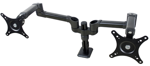 "Full Motion Dual Monitor Arm, Pole Mount, up to 27"" DS-227PS"